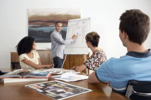 group developing a plan