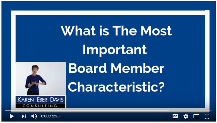 What Is The Most Important Board Member Characteristic?