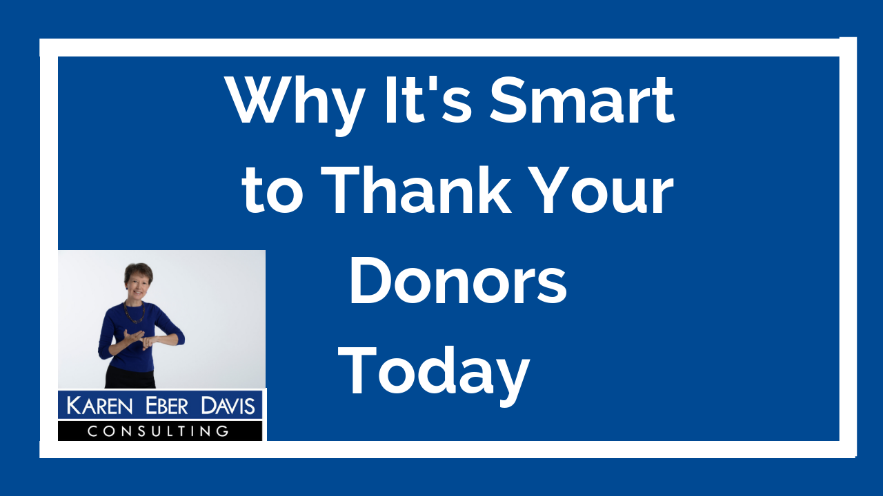 Why It's Smart to Thank Your Donors Today