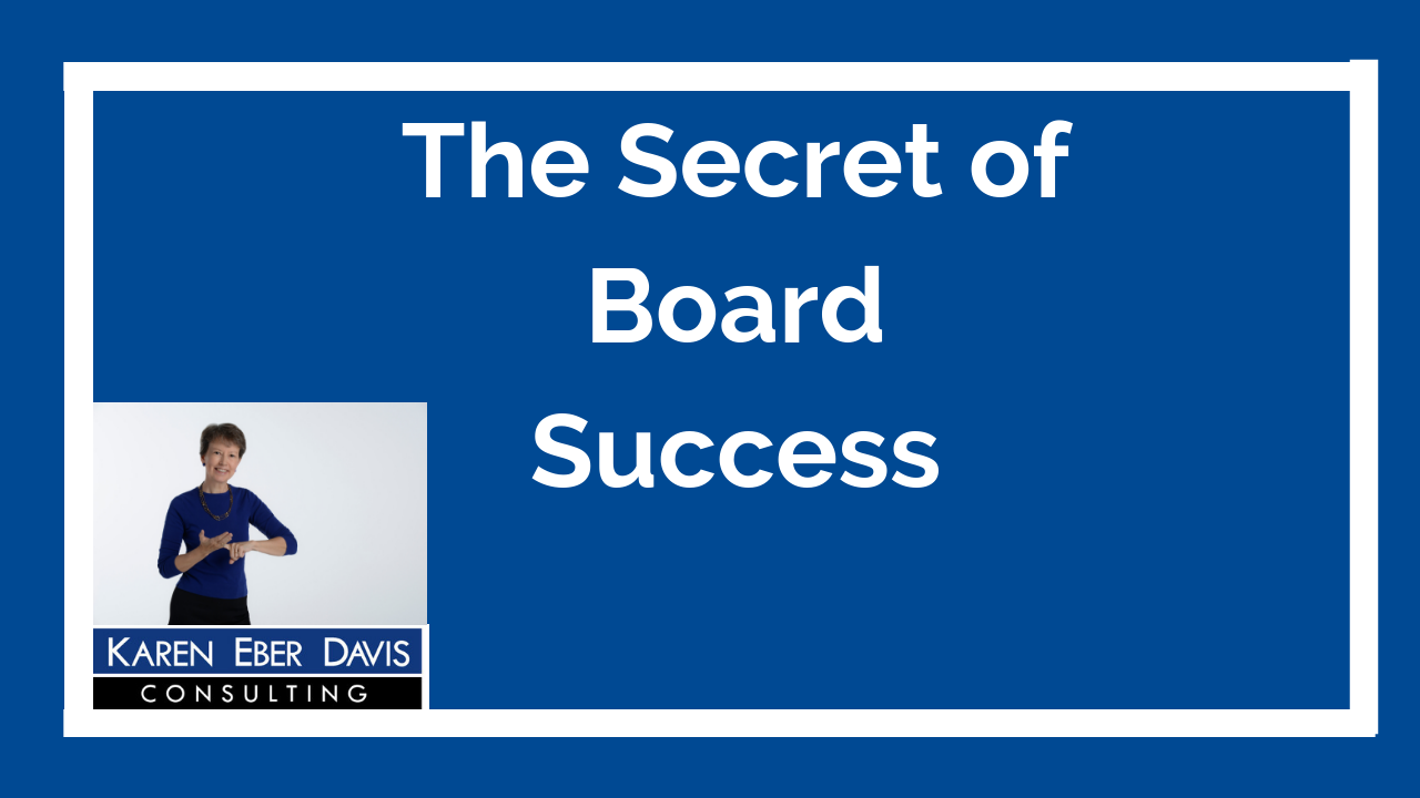 What is the Secret to Board Success?
