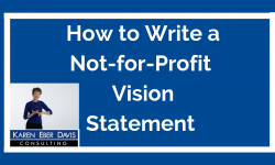 How to Write a Not for Profit Vision Statement
