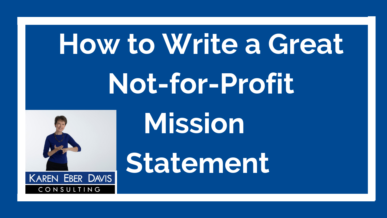 How to Write a Great Not-for-Profit Mission Statement