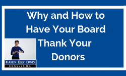 Why and How to Have Your Nonprofit Board Thank Donors