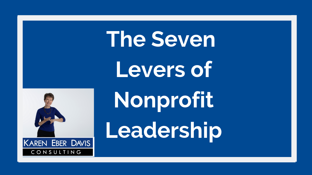 The 7 Levers of Nonprofit Leaders