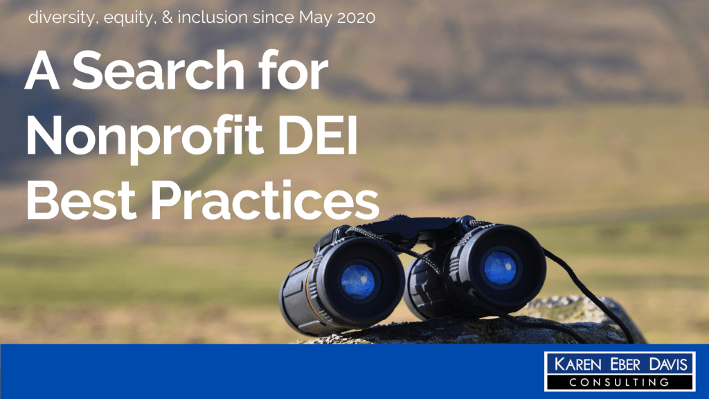 A Search for Nonprofit DEI Best Practices, DEI since May 2020