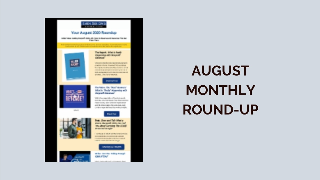 August Monthly Round-up