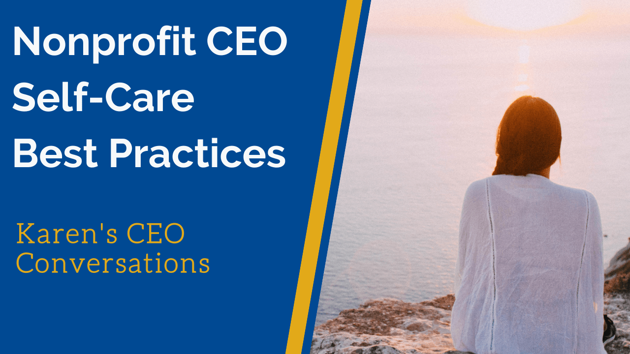 Best Self-Care Practices for Nonprofit EDs