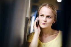 Woman listening to call