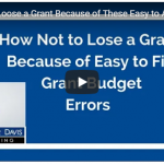 How Not to Lose a Grant
