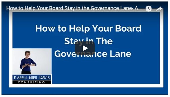 How to Help Your Board Stay in the Governance Lane: Added Value Video