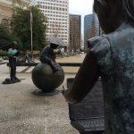 statues of children in Atlanta