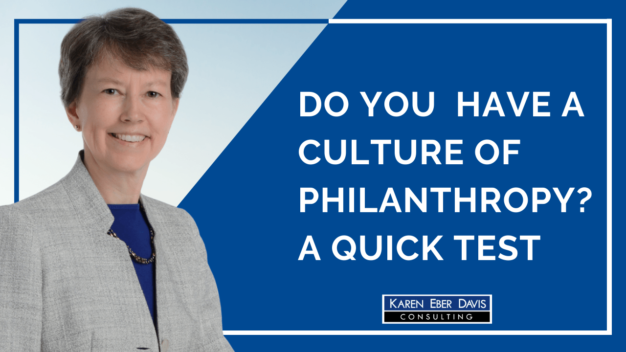 Do You Have Culture of Philanthropy? A Quick Test