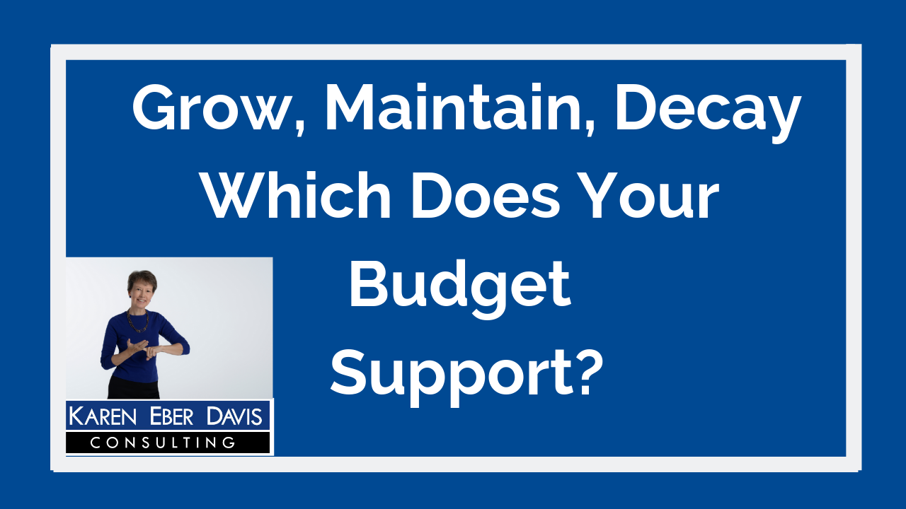Does Your Budget Support Growth, Maintenance or Decay?