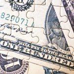 Close up of a money puzzle