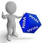 Win Dice Showing Success Winner Finish 1st